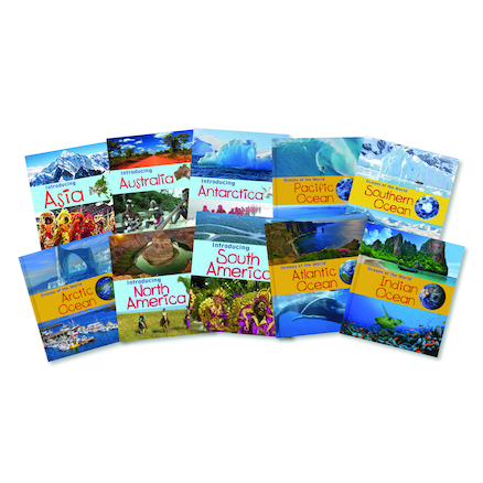 Oceans and Continents Books 10pk  large