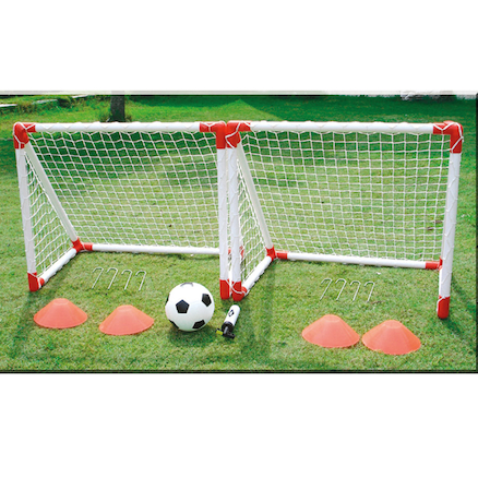 Mini Football Goal Play Complete Set 78 x 68cm  large
