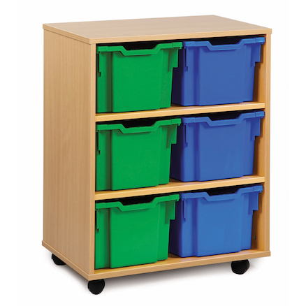 Mobile Tray Storage Unit With 6 Extra Deep Trays  large