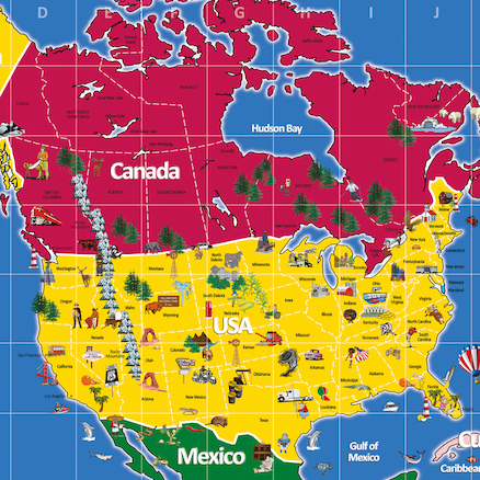 North America Signboard 210 x 120cm  large