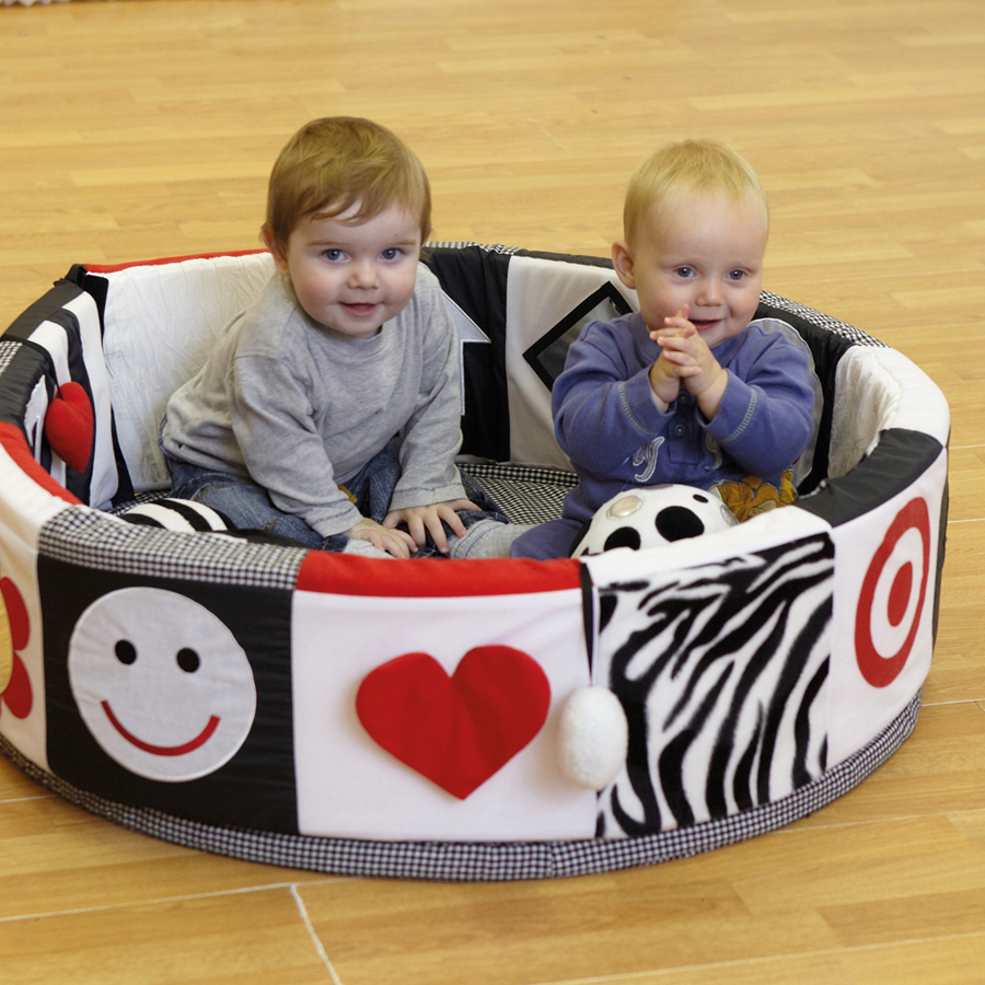 Buy Black and White Textured Baby Seating Pod | TTS