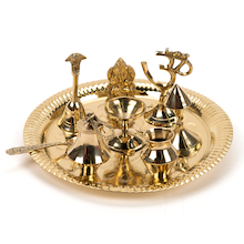 Brass Puja Set  medium