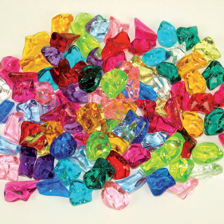 Brightly Coloured Acrylic Stones 450g Bag  large
