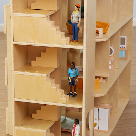 Small World Wooden Apartment Building  large