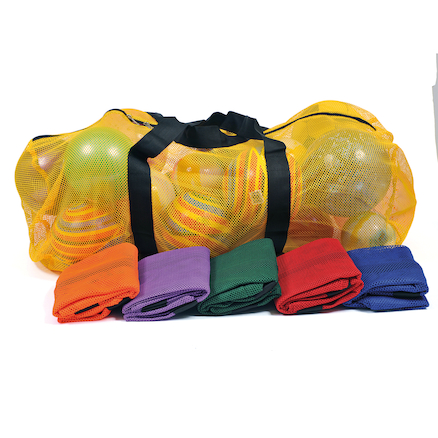 Coloured Mesh Ball Carry Bags 6pk  large