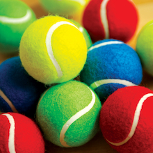 Coloured Playground Tennis Balls 12pk  medium