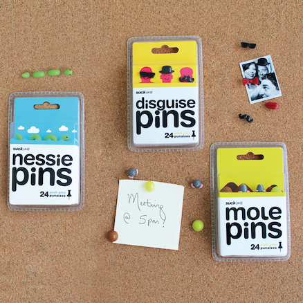 Funky Push Pins 24pk  large