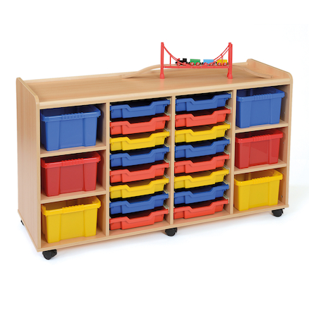 Tray Storage Unit 6 Deep Trays \/ 16 Shallow Trays  large