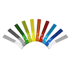 Pack of 10 Multi Coloured Cloakroom Hooks  small
