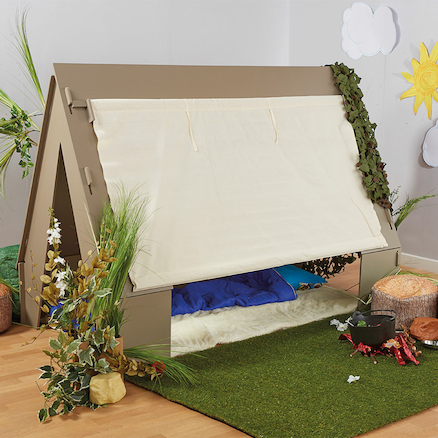 Role Play Wooden Tent Den  large