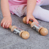 Black and White Mini Rattle Rollers  small