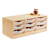Essentials Indoor Wooden Low Tray Storage Unit  small