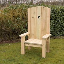 Freestanding Wooden Storytellers Chair  medium