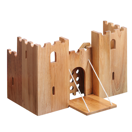 Small World Natural Wooden Castle  large