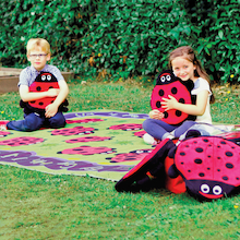Chloe the Caterpillar Outdoor Rug and Cushions  medium