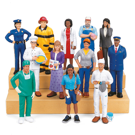 Small World Plastic Community Block People  large