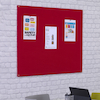 Unframed Noticeboard H1200 x W1800mm Grey  small