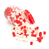 Red\/White Plastic Snap Cubes Pack 500pcs  small