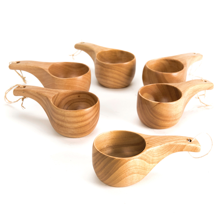 Woodland Wooden Cup 6pk  large