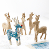 Papier Mache Christmas Reindeer Decorations 5pk  small