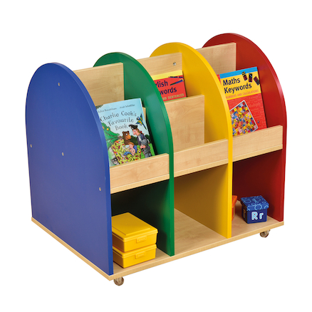 Wooden Mobile Book Storage Unit  large