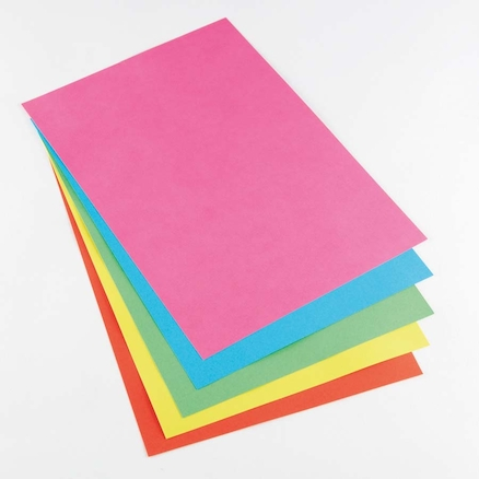 A4 Bright Coloured Copier Paper 80gsm 5pk Pink  large