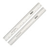 Clear Rulers 30cm 100pk  small