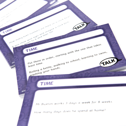 Time Problem Solving Cards 100pcs  large