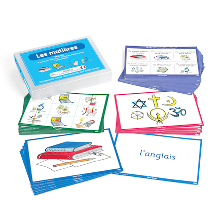 French Vocabulary Builders \- School Subjects  large