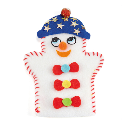 Make Your Own Felt Snowman Puppets 30pk  large