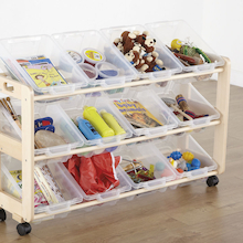 Tilted Tray Mobile Tidy With 12 Trays  medium