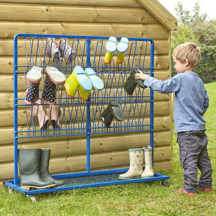 Double Sided Metal Wellie Rack L110 x W40 x H100cm  large