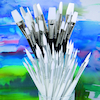 Assorted White Nylon Paint Brushes 90pk  small