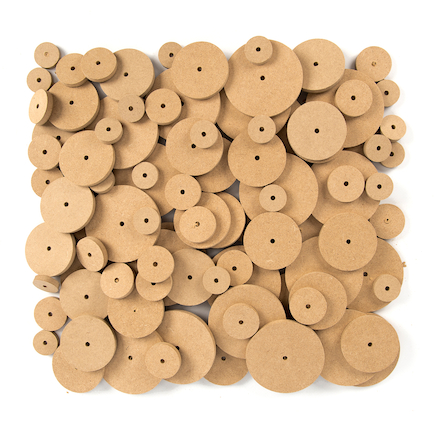 Wooden Wheels Mixed Sizes  large