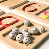 Wooden Number Trays  small