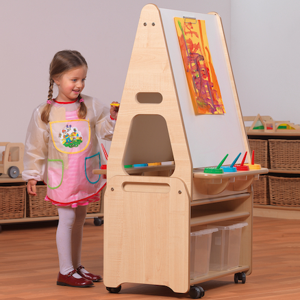 Millhouse Two Sided Easel and Trolley  large