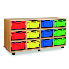 Mobile Tray Storage Unit With 12 Deep Trays  medium