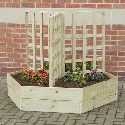 Wooden Planters with Trellis  large
