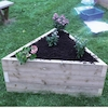 Triangular Wooden Grow Bed  small