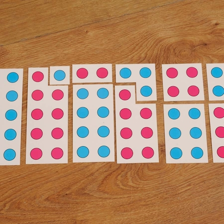 Coloured Spot Number Frames to 10 40pcs  large