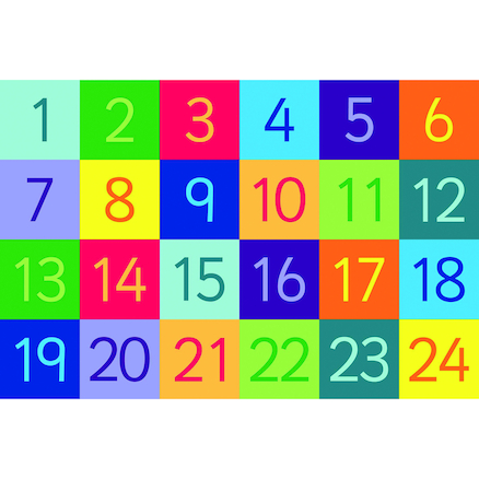 Rainbow Number Mats Buy All and Save  large