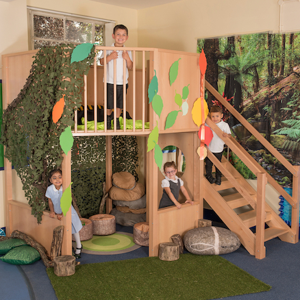 Indoor Two Floor Play Loft H2.4cm  large