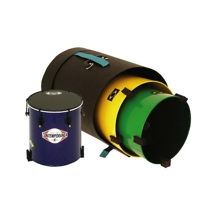 Stackable Surdo Samba Drums 3pk  large
