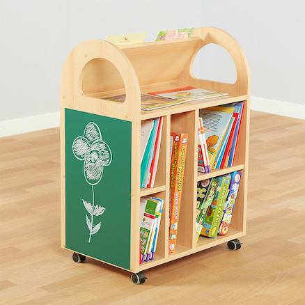 Double Sided Book Trolley W60 x D40 x H80cm  large