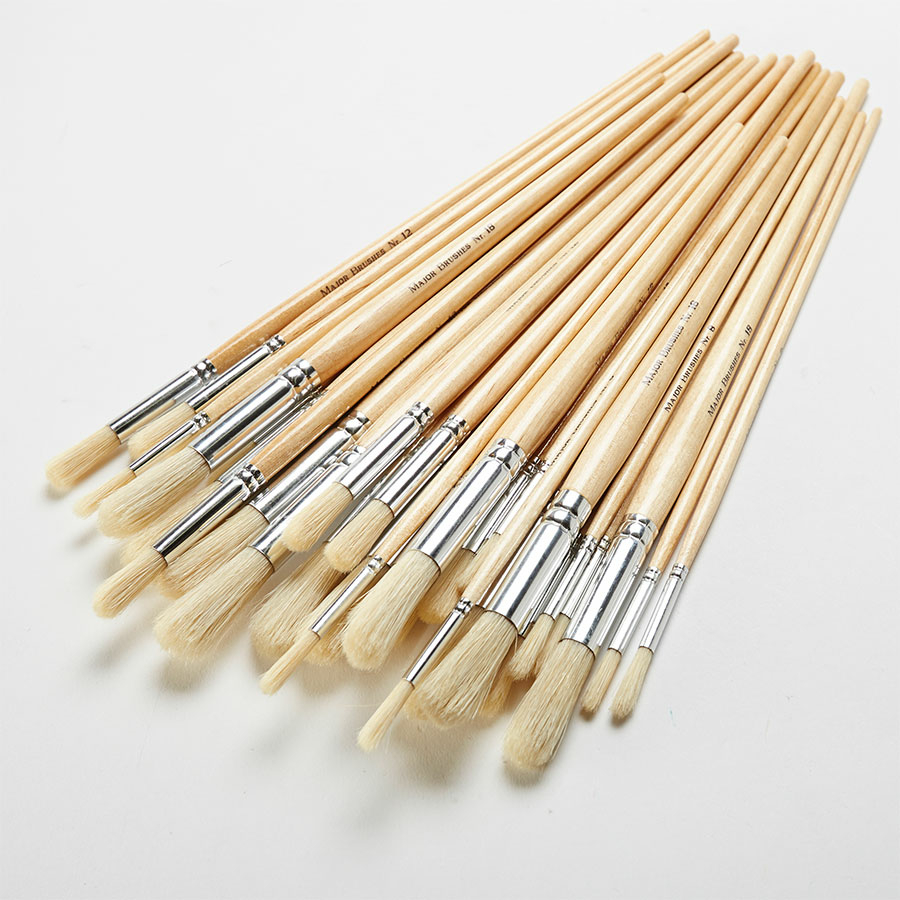Hair Sticks With Paint Brushes