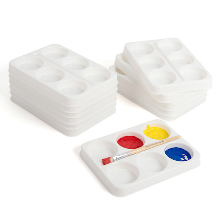 6 Well Plastic Palette White  large