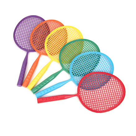 Plastic Junior Badminton Play Rackets 6pk  large