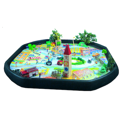 Active World Tuff Tray Town Scene Mat  large