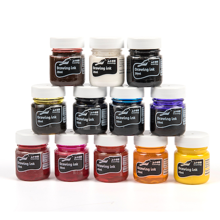 Assorted Water Based Drawing Inks 12pk  large