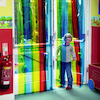 Rainbow Free Flow Curtain Strips  small